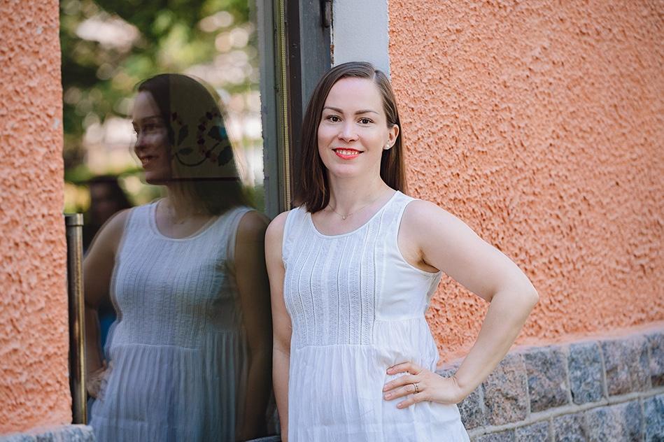 Rosa Auffermann on pian kahden lapsen äiti ja Äitipiirin hyvä olo -segmentin vetäjä.