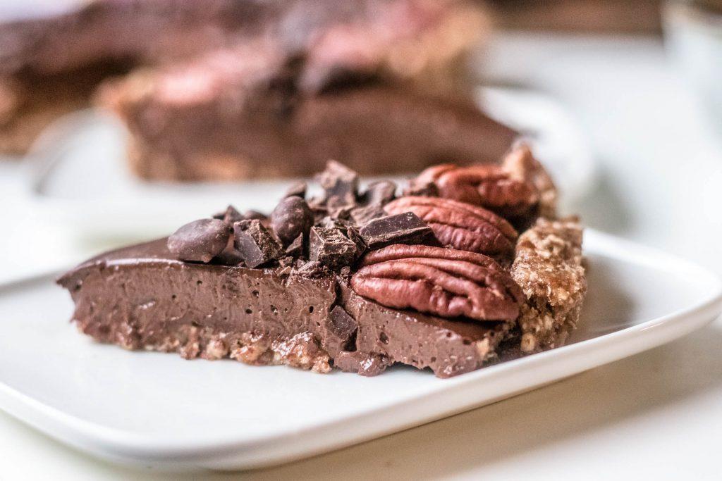 Mokka-suklaapiiras on makea herkku.